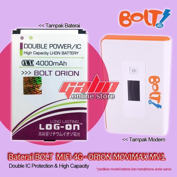 Jual Baterai / Battery LOGON BOLT ORION MOVIMAX MV1, 4000mAh Double Power -  DKI Jakarta - Toko HP Lengkap   Tokopedia