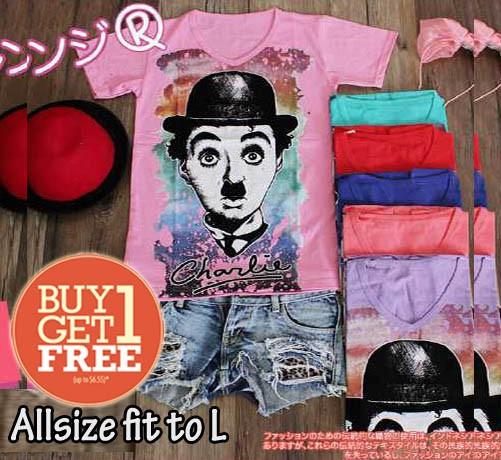 harga Buy 1 get 1 free baju allsize fit to l oreenjy kaos cuci gudang Tokopedia.com