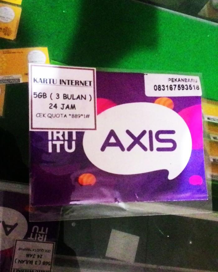 Foto Produk Kartu Perdana Internet AXIS XL 5GB 5 GB Murah 3 Bulan dari pekanbaru corner