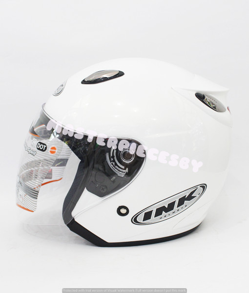 harga Helm ink centro jet pearl white [original product] Tokopedia.com