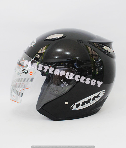 Helm INK Centro Jet Black Metallic Glossy ORIGINAL PRODUCT