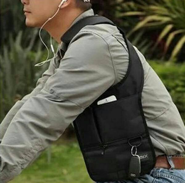 Foto Produk Tas gadget pundak army polisi FBI agen 007 bag organizer - Hitam dari slyshop