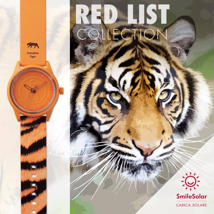 Q&Q Smile Solar RedList - SumatranTiger (Limited Edition 2016)
