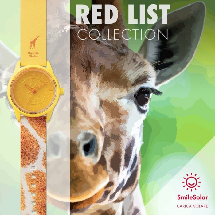Q&Q Smile Solar RedList - NigerianGiraffe (Limited Edition 2016)