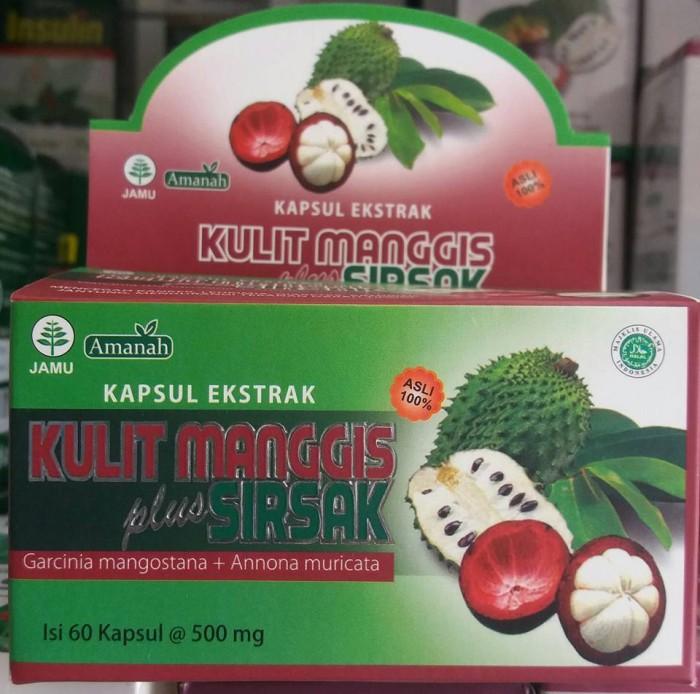 Kapsul Ekstrak Kulit Manggis Plus Daun Sirsak Amanah .
