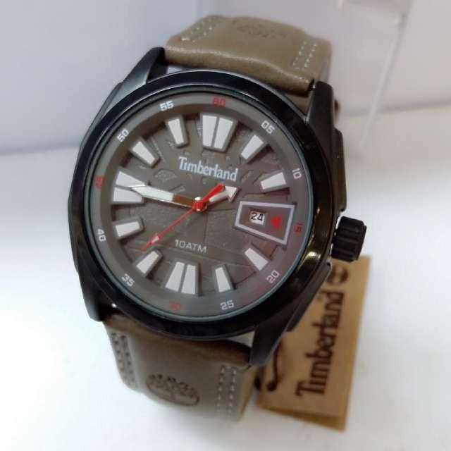 harga Jam tangan pria timberland kulit abu-abu Tokopedia.com