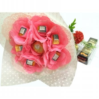 Buket Bunga Mawar Pink Coklat Silverqueen Monte Hadiah Valentine