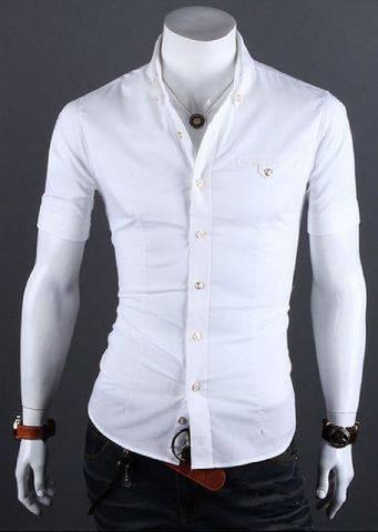 Jual Baju Kemeja Putih Pria Lengan Pendek Kota Makassar Al Iksan Tokopedia