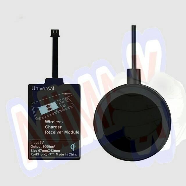 Foto Produk Universal Qi Charger Kit (1 set)  utk colokan middle atau tengah dari adiMax