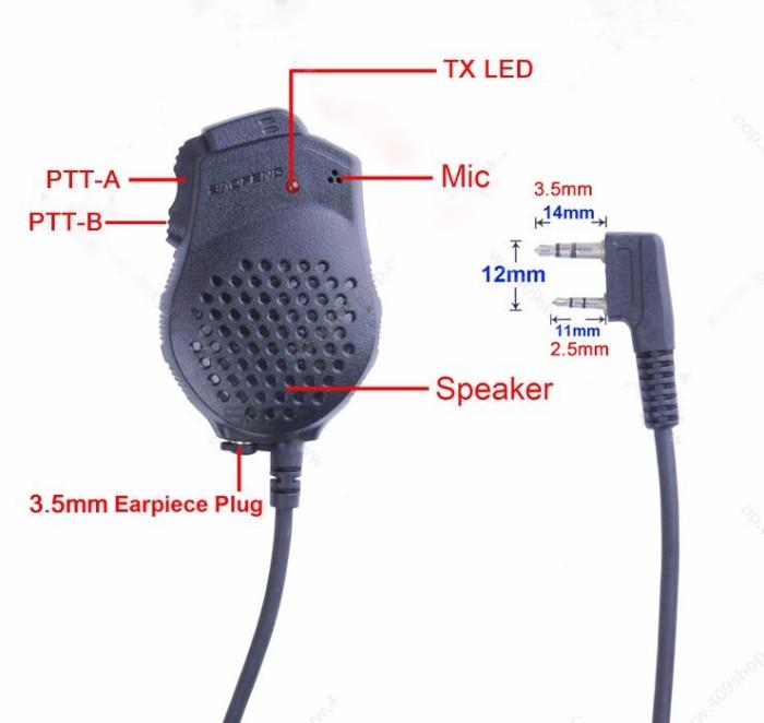 harga Original baofeng dual-ptt speaker for gt-5/ uv-82 series Tokopedia.com