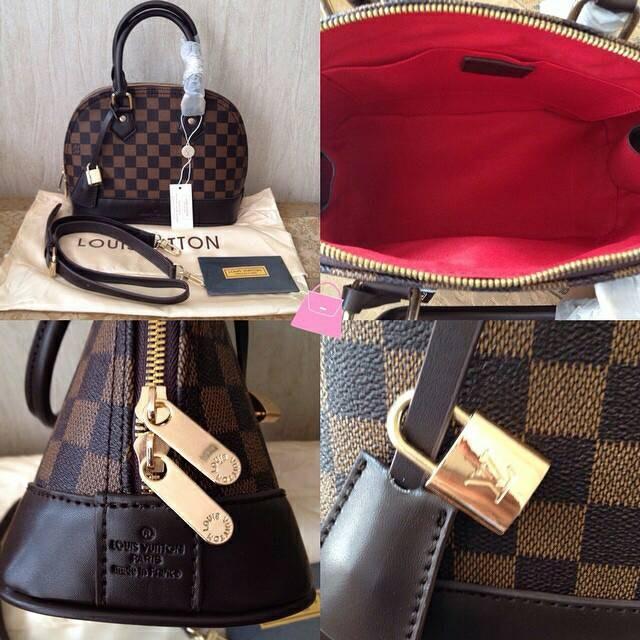 1eab87a6b9c4 Jual LV Louis Vuitton Alma Mini Damier Sling Bag Tas Wanita Branded ...