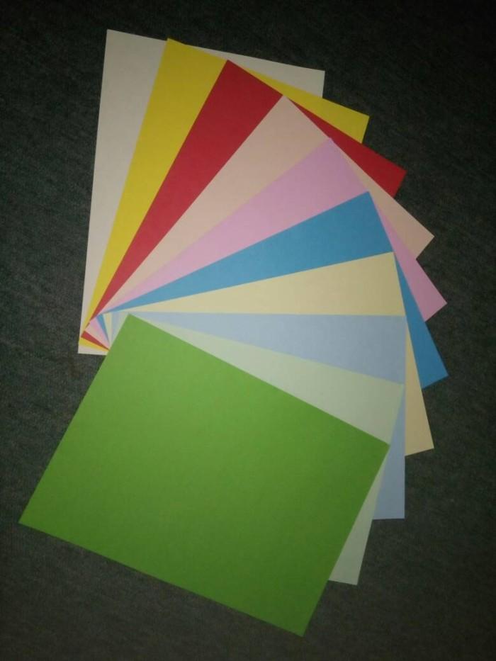 Jual Kertas Hvs 80gr Warna Warni Rainbow Paper Craft Kota