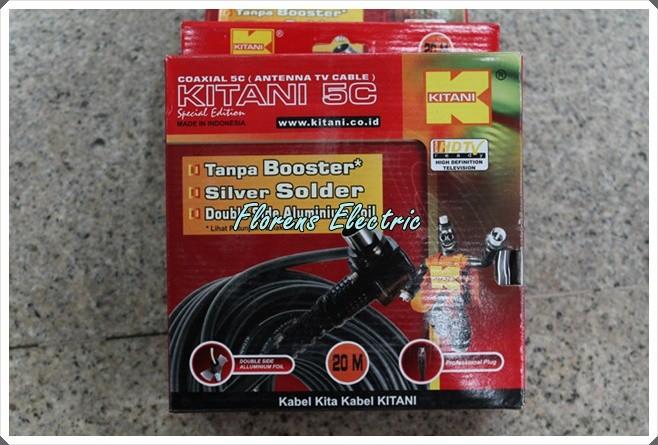 harga Kabel antena tv coaxial rg-6 panjang 20m merk kitani 5c tembaga murni Tokopedia.com