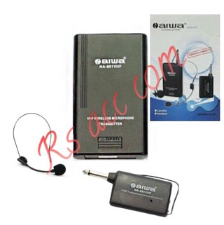 harga Murah !!! mic wireless clip on n aiwa na 801 vhf headset Tokopedia.com