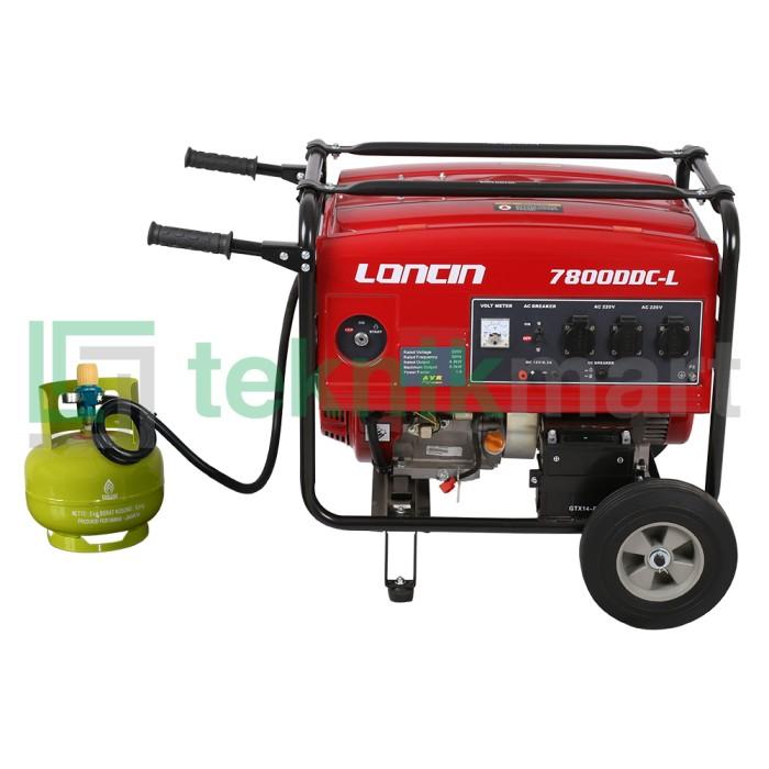 harga Genset / generator set gas lpg loncin lc7800ddc-l (5000 watt) Tokopedia.com