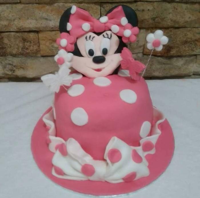 Jual Cake Minnie Mouse 14cm Kue Ulang Tahun Anak Kab Bandung Zharifahcupcakes Tokopedia