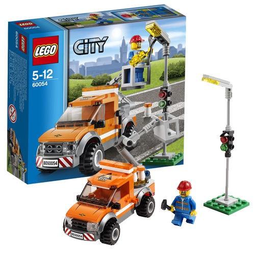LEGO City - 60054 Light Repair Truck Set Building Crane Car Worker Toy