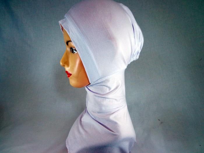 harga Ciput ninja inner dalaman jilbab putih - perlengkapan haji dan umroh Tokopedia.com