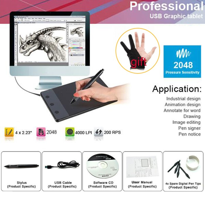 harga Usb drawing board tablet pen pc laptop graphic design paint animation Tokopedia.com