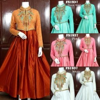 Jual Baju Pesta Model Cardi Bahan Satin Velvet Fs1937 My Butik