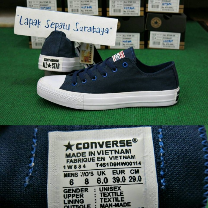 Jual Sepatu Converse Chuck Taylor Grade Ori Vietnam   Biru Navy ... b206c01d86