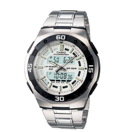 harga Casio aq164wd-7 jam tangan analog digital pria ori garansi stainless Tokopedia.com