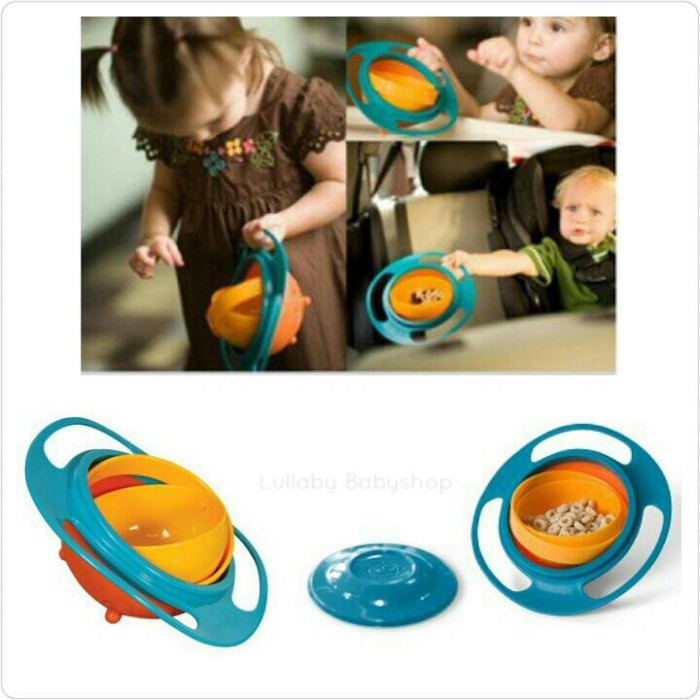 gyro bowl mangkok anti tumpah anak kids balita toddler