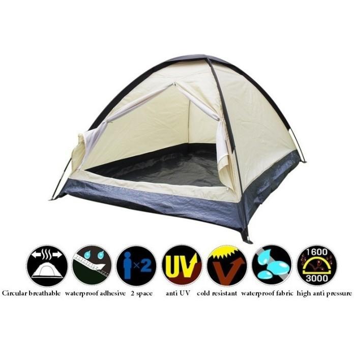 Tenda Camping / Double Layer Door Camping Tent UNTUK 2 ORANG
