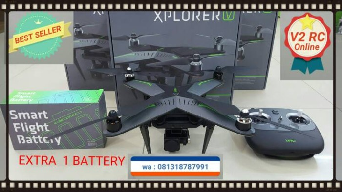 harga Drone xiro v xplorer camera 14mp full hd + 1extra battery Tokopedia.com