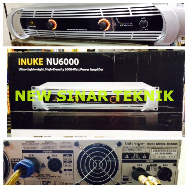 harga Power amplifier digital behringer inuke nu6000 6000 watt Tokopedia.com