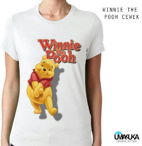 harga Winnie the pooh lady - kaos 3d umakuka bandung/kaos unik/keren Tokopedia.com