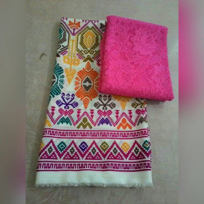harga Kain kebaya bali brukat / brokat dan satin songket srikandi pink Tokopedia.com