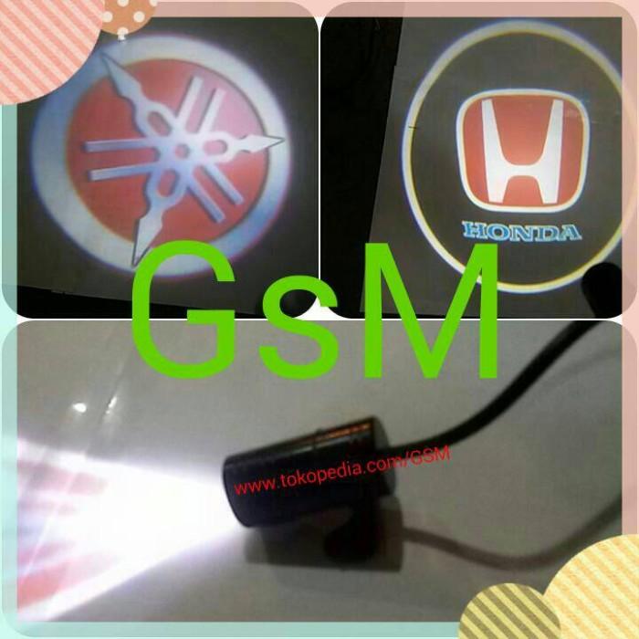 harga Lampu led laser aksesoris motor mobil berlogo yamaha dan honda Tokopedia.com
