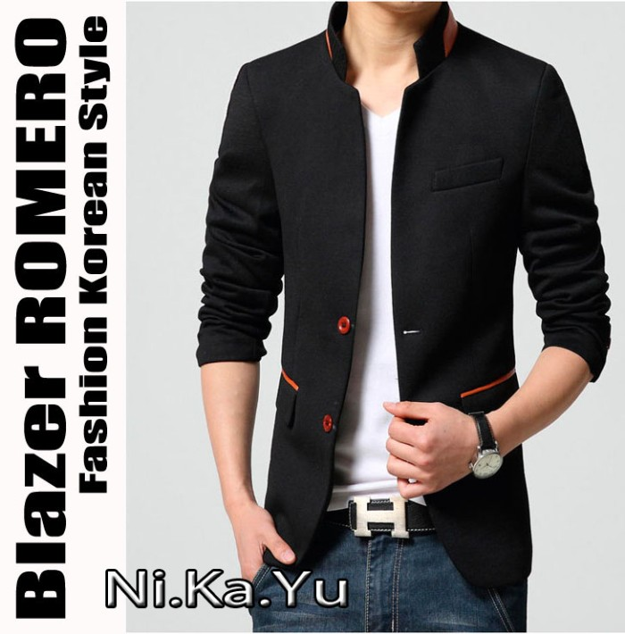 harga Blazer romero - jas semi formal casual trendy pria slim bodyfit grosir Tokopedia.com