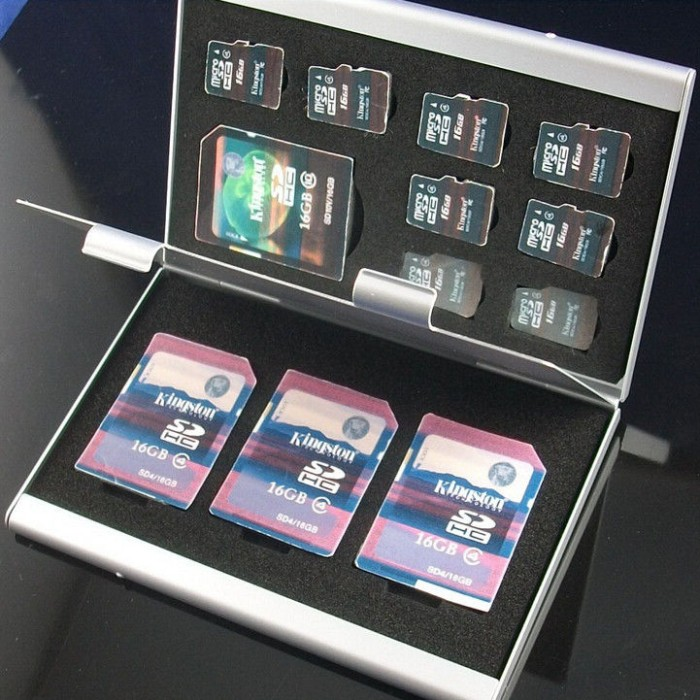 harga Metal 12 in 1 box tas photography bag 8 micro sd 4 sd card storage box Tokopedia.com