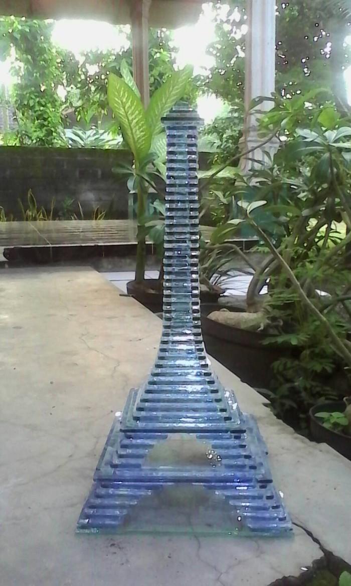 Jual Kerajinan Kaca Tipe 04 Miniatur Menara Eiffel Kab Jember Diva Creative