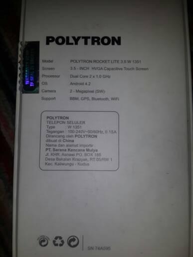 Jual Polytron W1351 Rocket Lite 3 5 Yosshop Tokopedia