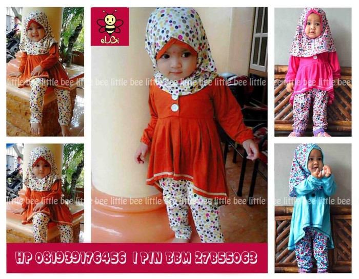 Jual Busana Muslim I Baju Muslim Bayi Perempuan I Pakaian