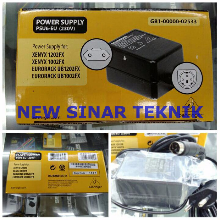 harga Behringer psu6 eu / psu6-eu power adapter / adaptor for 1202fx 1002fx Tokopedia.com