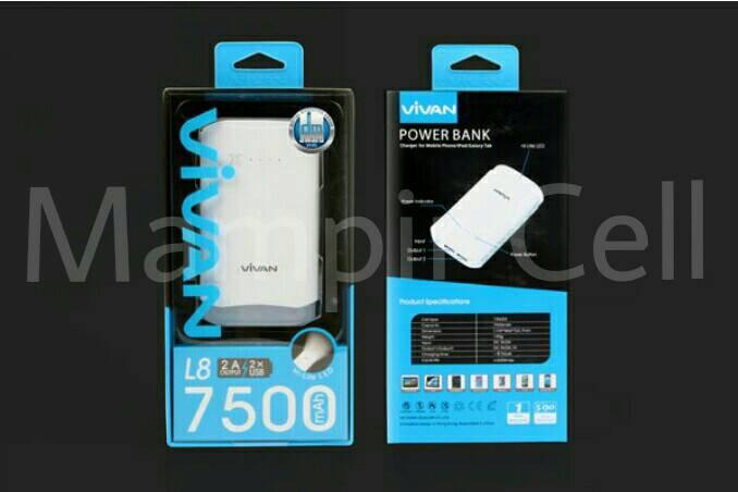 harga Power bank vivan l8 7500mah + body led | garansi resmi 1 tahun Tokopedia.com
