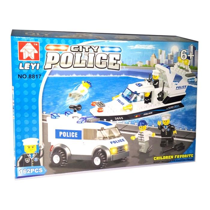 Jual Mainan Lego Kapal Mobil Polisi Leyi City Police 2 In 1 Kota