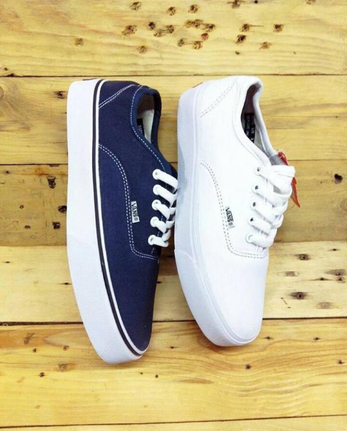 harga Sepatu vans authentic navy white /biru putih sekolah anak keren murah Tokopedia.com
