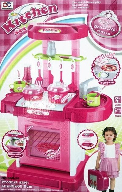harga Mainan kitchen set pink koper murah masak masakan Tokopedia.com