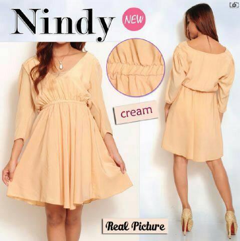harga Dress nindy/mini dress/dress korea/simpel dress/dress lengan panjang Tokopedia.com