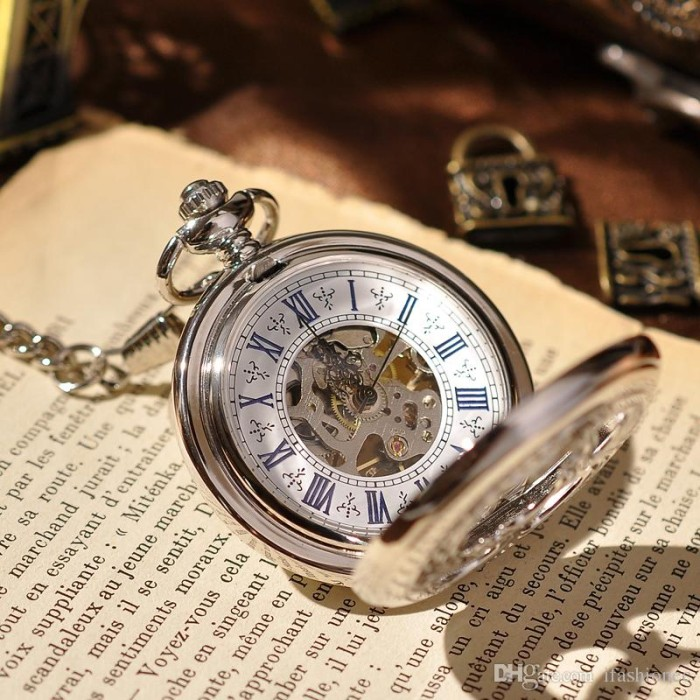 harga Classic import mechanical pocket watch (jam saku) with chain Tokopedia.com