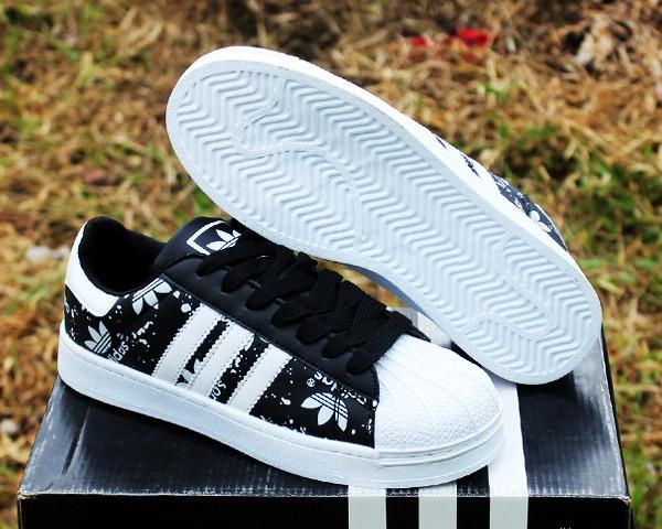 Jual Sepatu Adidas Superstar Hitam Strip Putih (casual 669fb1b239