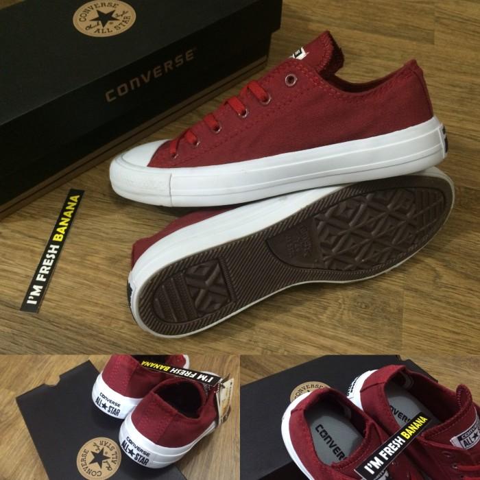 Jual sepatu converse all star merah maroon cek harga di PriceArea.com 95f8484d93