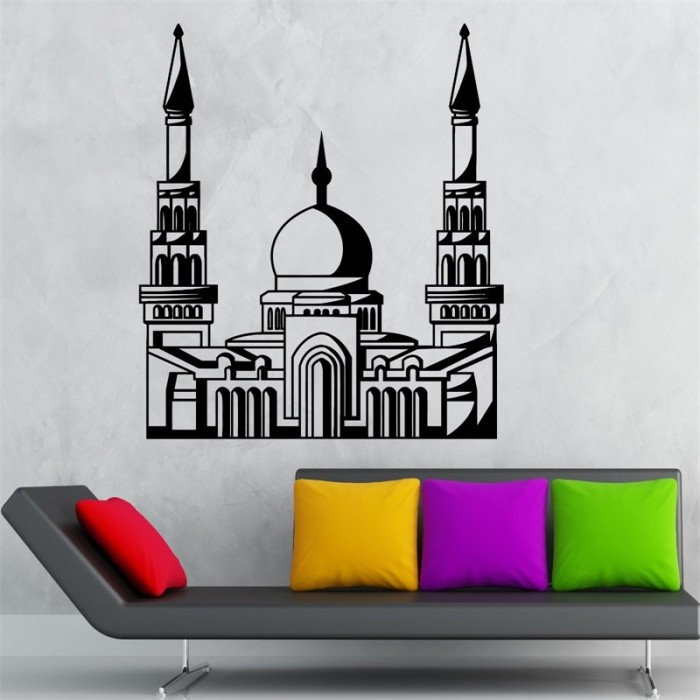 jual wall sticker masjid 7 - kab. tangerang - muslim sticker | tokopedia