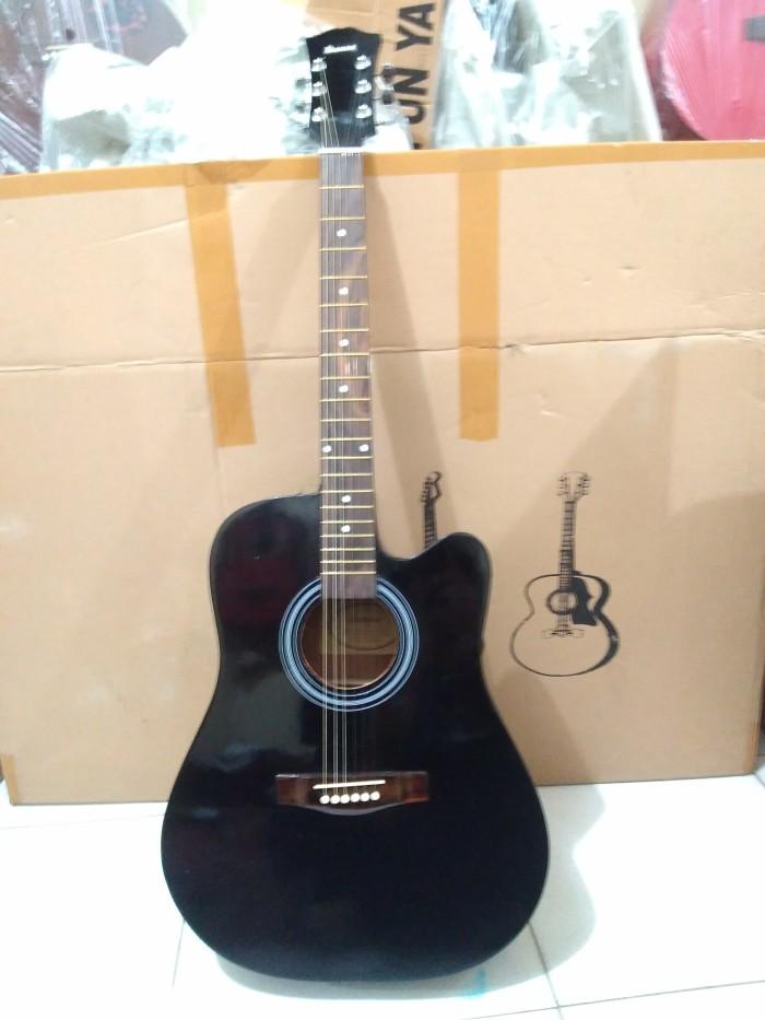 harga Gitar jumbo akustik hitam Tokopedia.com