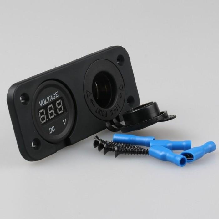 harga Charger lighter + voltmeter 2 in 1 buat nmax dan motor lainnya Tokopedia.com